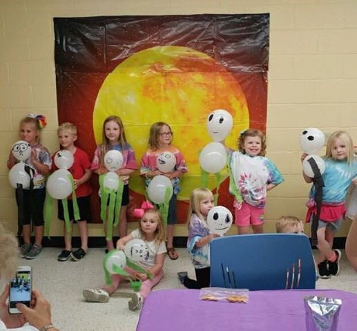 Our afternoon Summer Reading Camp members found aliens lurking in the library.