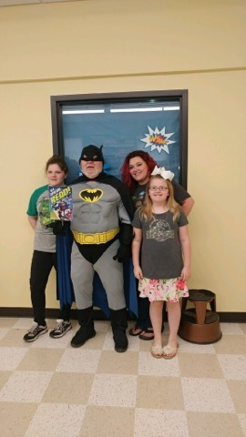 Batman pays a visit to WBHML on Free Comic Book Day to remind us about the importance of reading.
